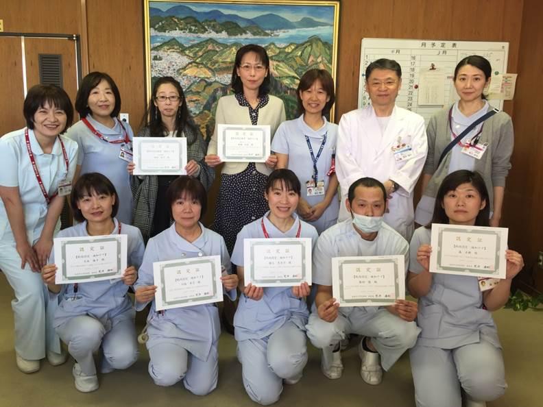 2017年度院内認定看護師修了式